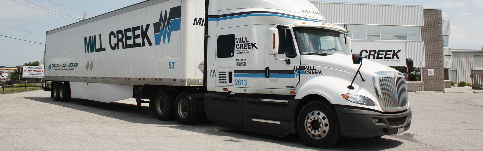 Contact mill creek motor freight a canada usa mexico for Motor freight shipping rates